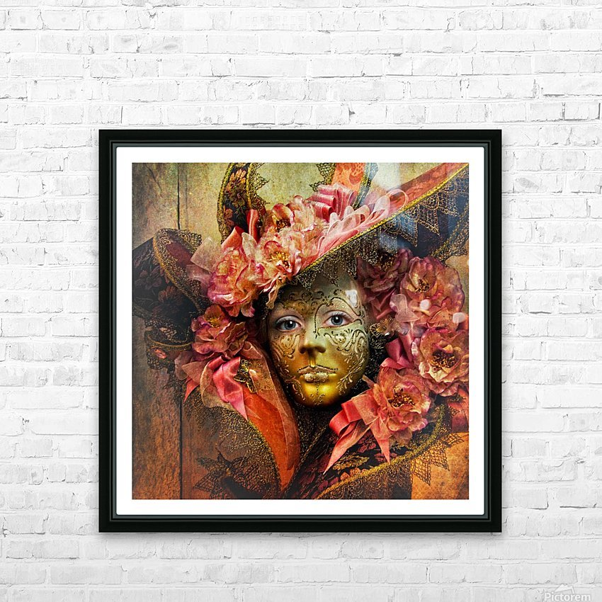 Venetian Mask HD Sublimation Metal print with Decorating Float Frame (BOX)