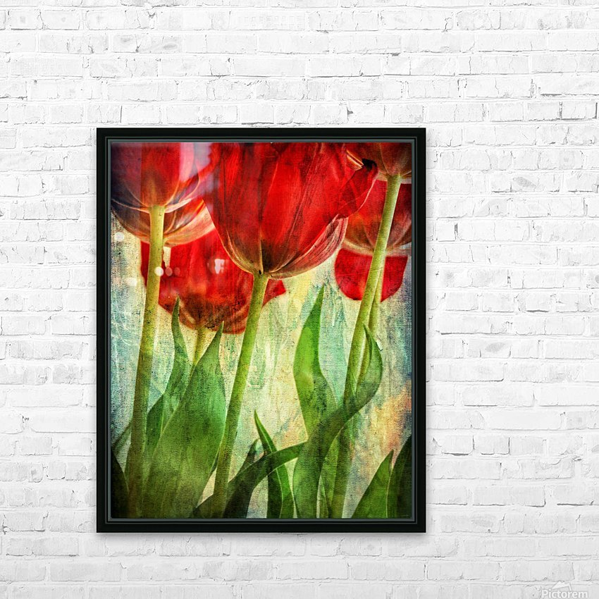 Tulips HD Sublimation Metal print with Decorating Float Frame (BOX)