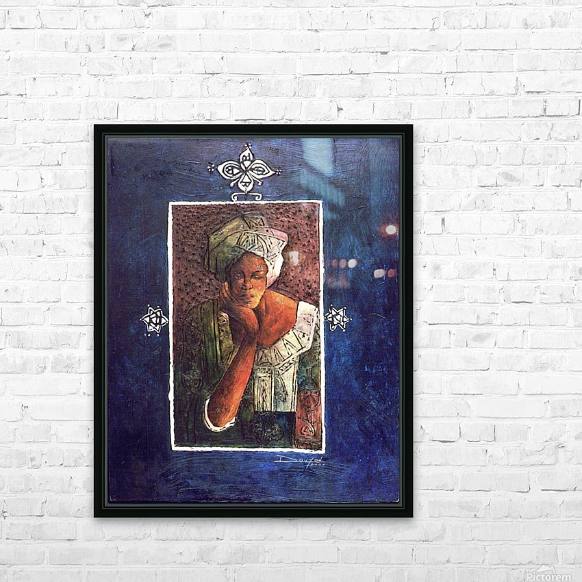 Femme au turban HD Sublimation Metal print with Decorating Float Frame (BOX)