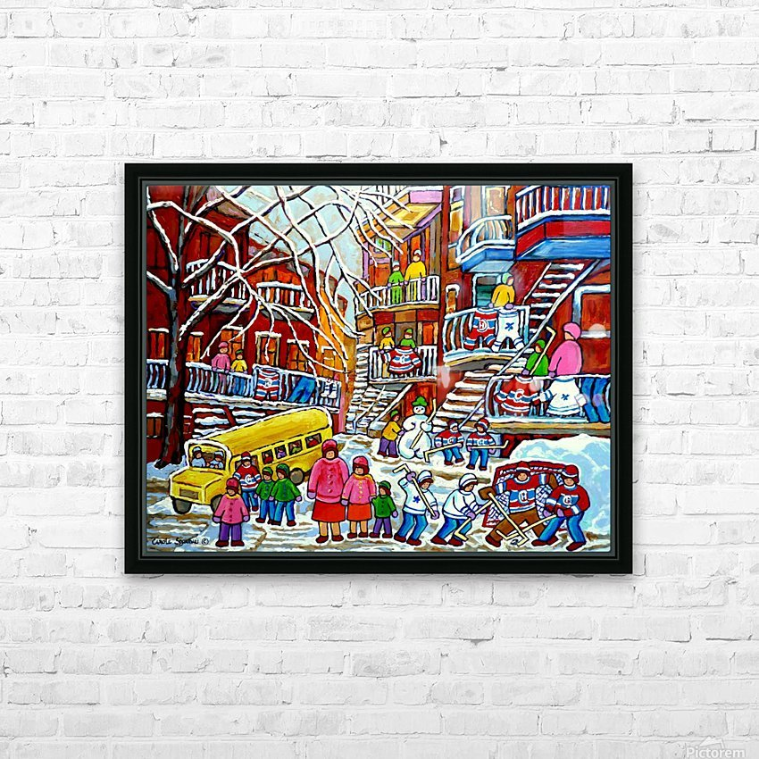 WINTER  WONDERLAND MONTREAL PAINTINGS  HD Sublimation Metal print with Decorating Float Frame (BOX)