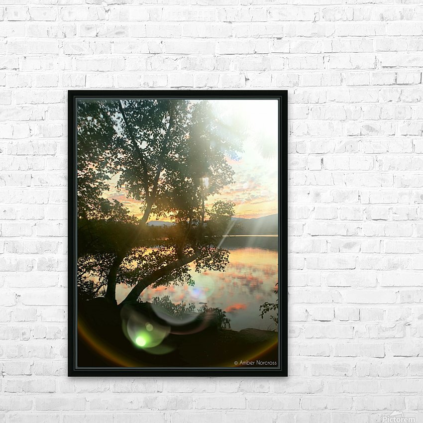 Stunning sunset HD Sublimation Metal print with Decorating Float Frame (BOX)