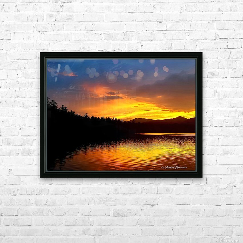 Firey Sunset HD Sublimation Metal print with Decorating Float Frame (BOX)