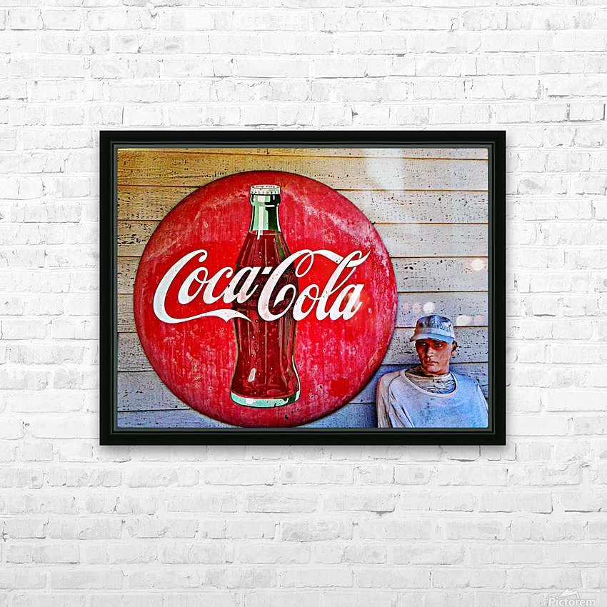 Coke   HD Sublimation Metal print with Decorating Float Frame (BOX)