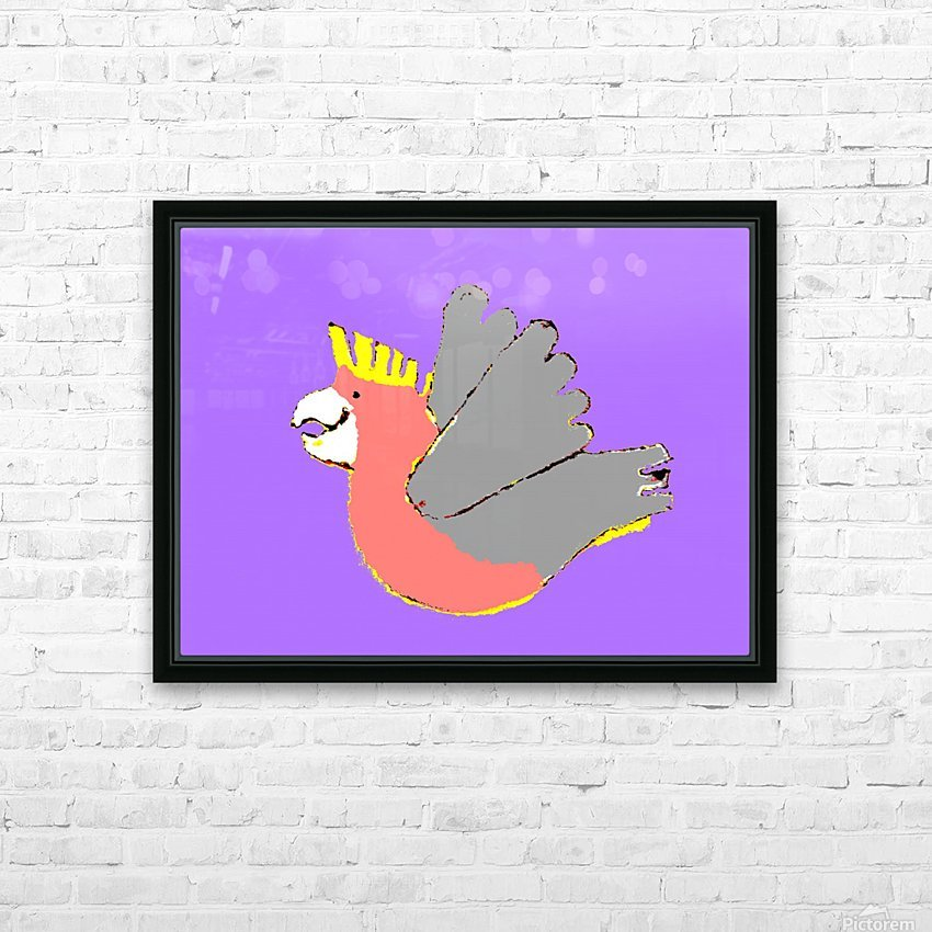 Happy Galah - Purple HD Sublimation Metal print with Decorating Float Frame (BOX)