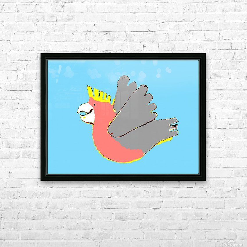Happy Galah - Blue HD Sublimation Metal print with Decorating Float Frame (BOX)