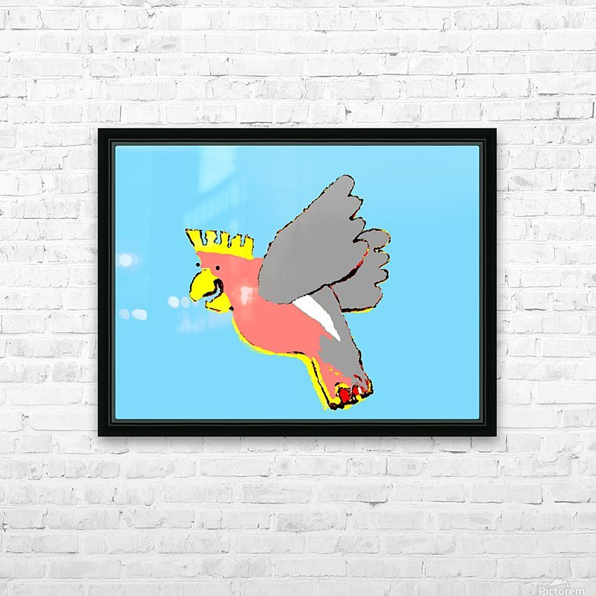 Laughing Galah - Blue HD Sublimation Metal print with Decorating Float Frame (BOX)