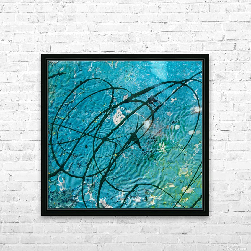 light blue abstract HD Sublimation Metal print with Decorating Float Frame (BOX)