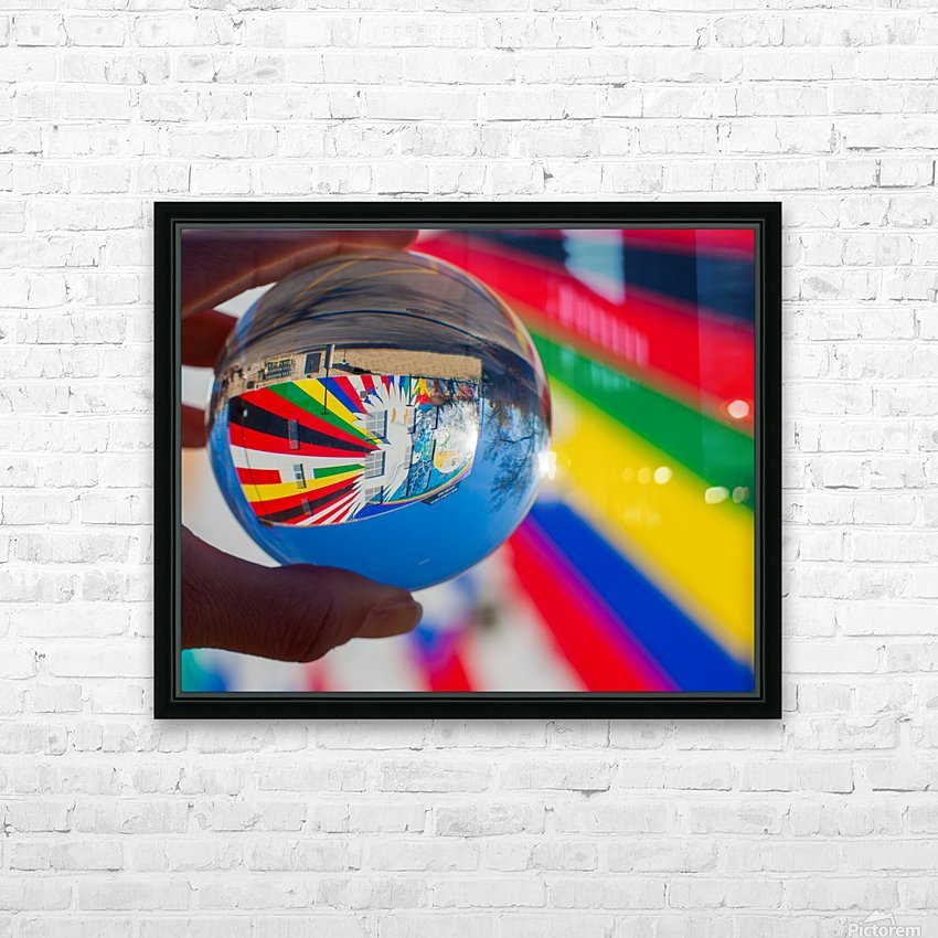 MKE Glass Ball Reflections HD Sublimation Metal print with Decorating Float Frame (BOX)