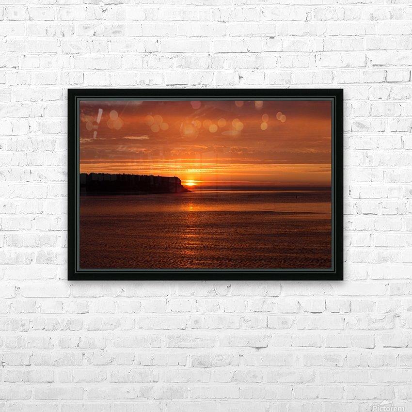 Orange Sunshine HD Sublimation Metal print with Decorating Float Frame (BOX)