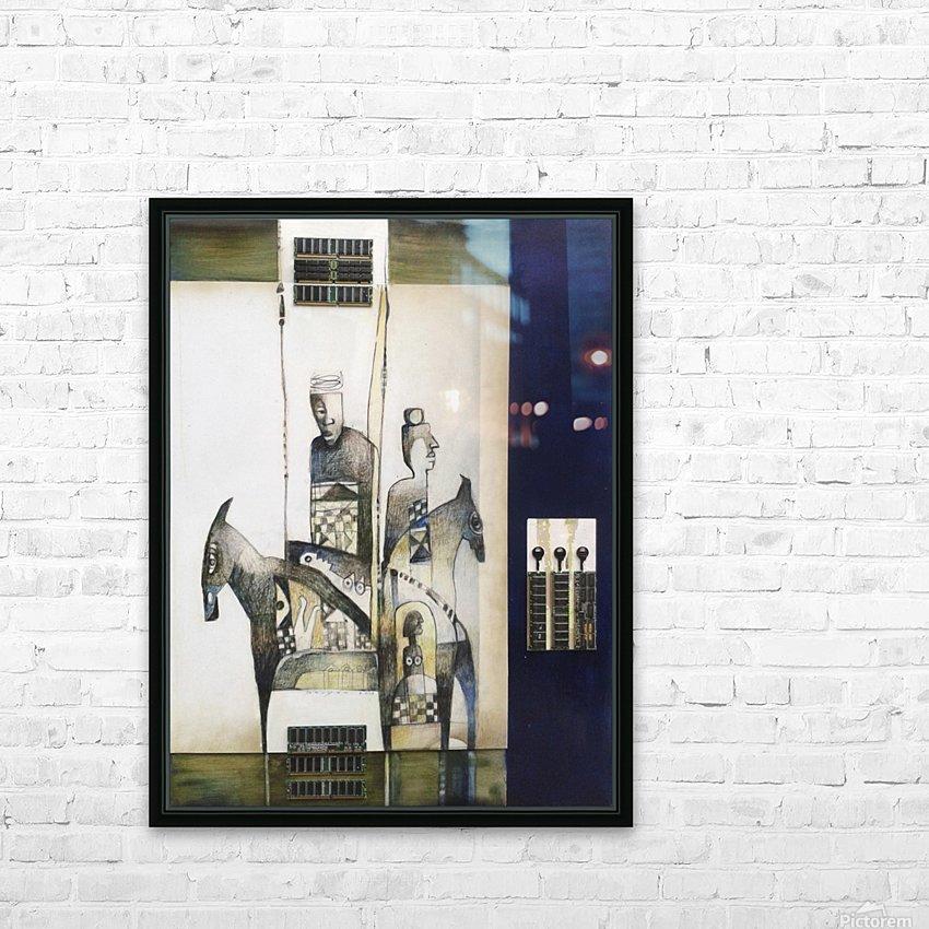 Blue duel HD sublimation métal imprimé avec décoration flotteur cadre (boîte)