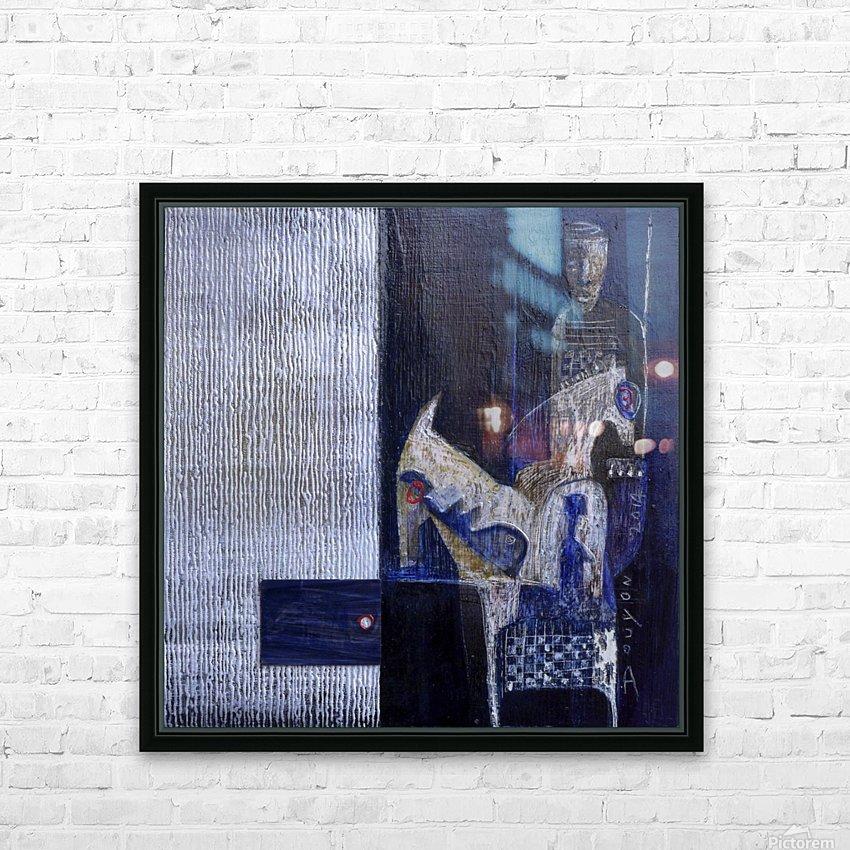 Blue Horserider 1 HD sublimation métal imprimé avec décoration flotteur cadre (boîte)