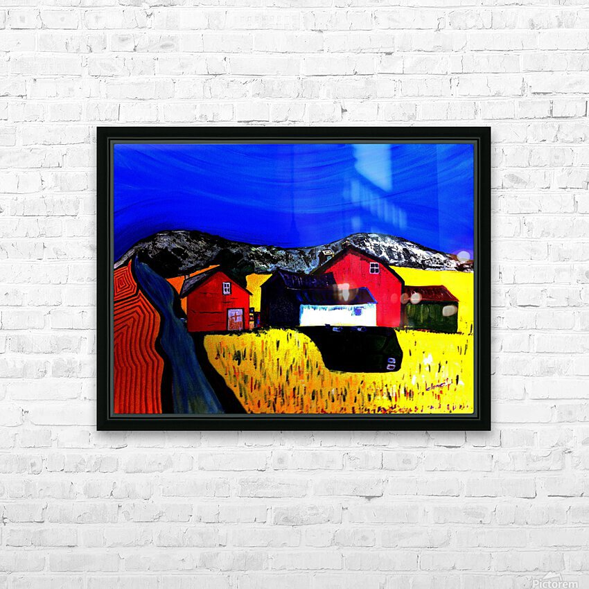 AS - Farm Land HD Sublimation Metal print with Decorating Float Frame (BOX)