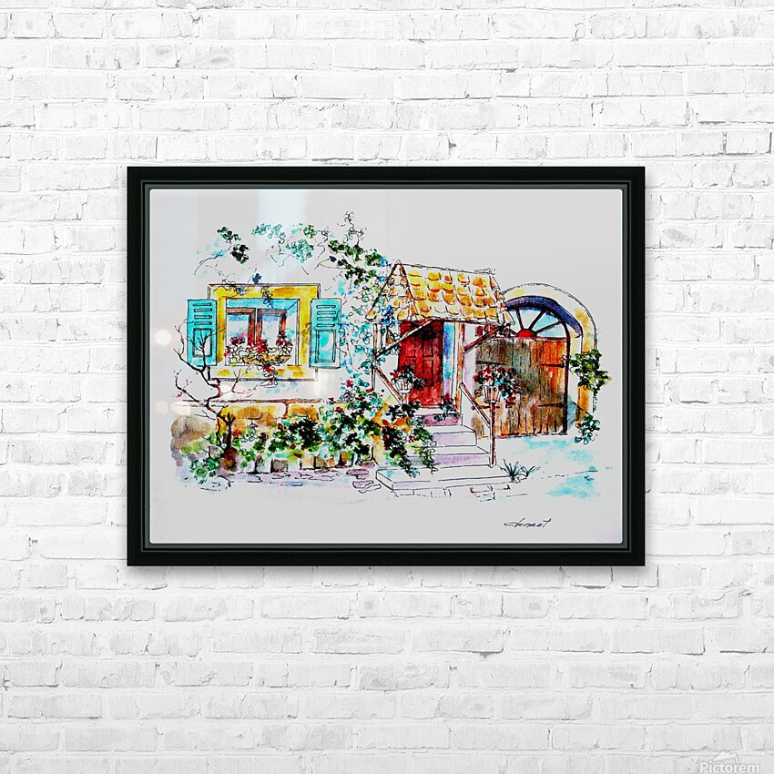 PTS - My House HD Sublimation Metal print with Decorating Float Frame (BOX)