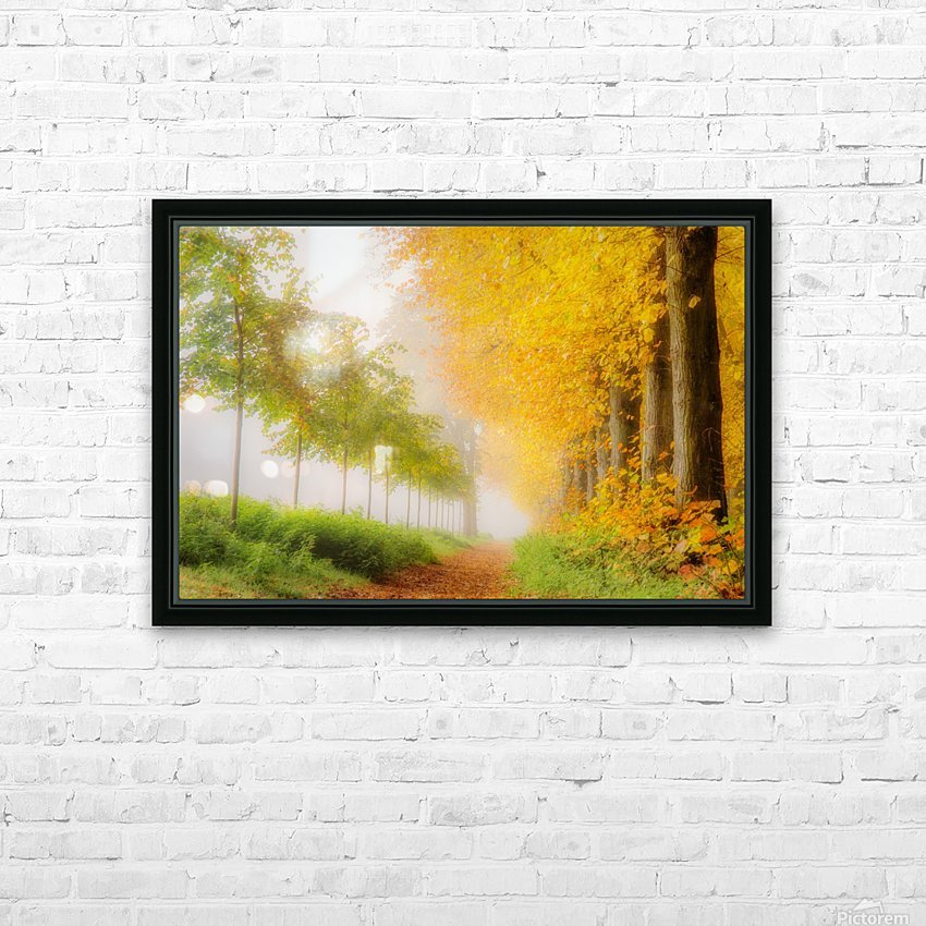 Autumn Colors HD Sublimation Metal print with Decorating Float Frame (BOX)