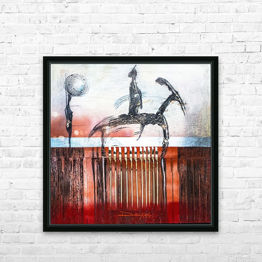Shadow horserider 4 HD Sublimation Metal print with Decorating Float Frame (BOX)