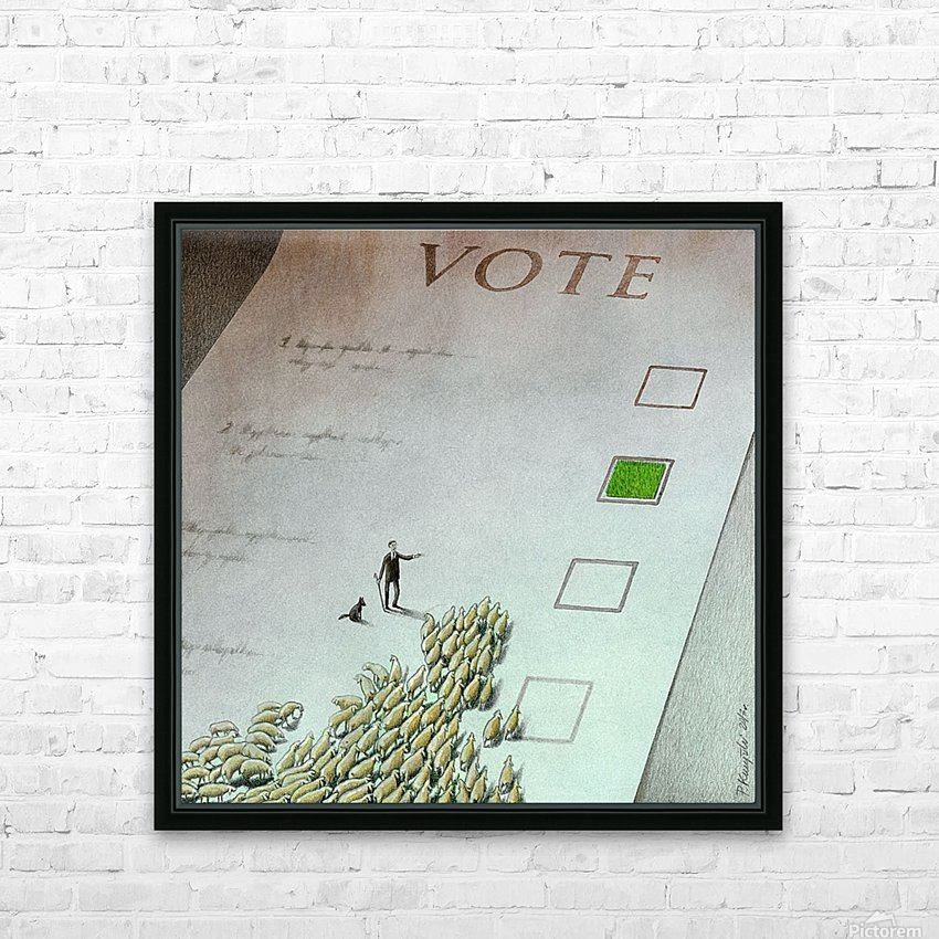 Vote HD Sublimation Metal print with Decorating Float Frame (BOX)