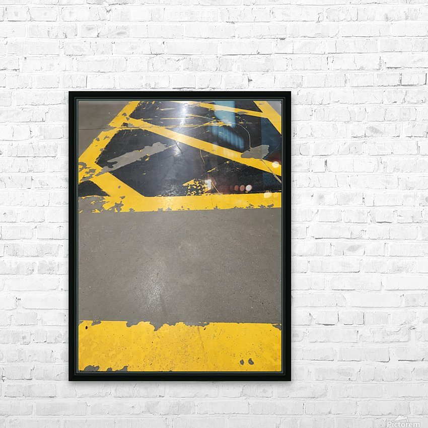 R_PUNKS_USINE_JAUNE HD Sublimation Metal print with Decorating Float Frame (BOX)