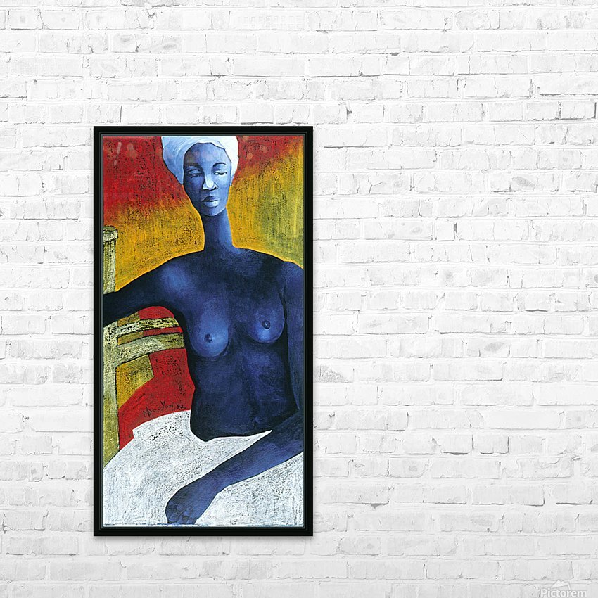 Blue Nude Woman HD Sublimation Metal print with Decorating Float Frame (BOX)