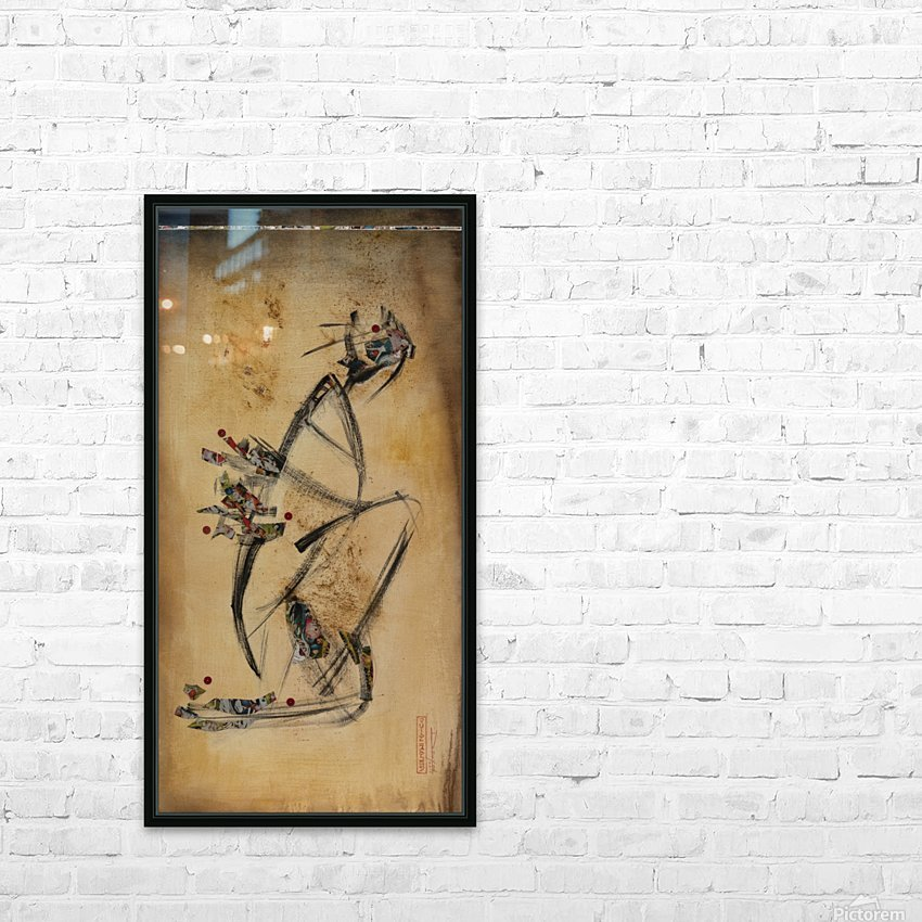 Japanese woman1 HD Sublimation Metal print with Decorating Float Frame (BOX)