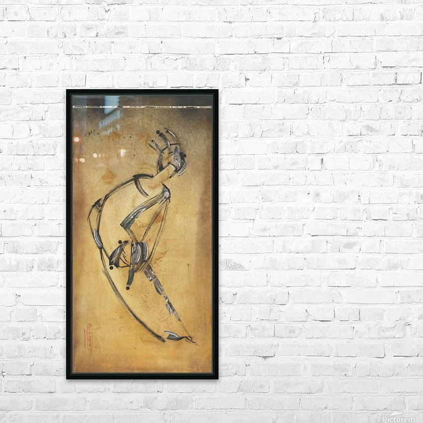 Japanese woman3 HD Sublimation Metal print with Decorating Float Frame (BOX)