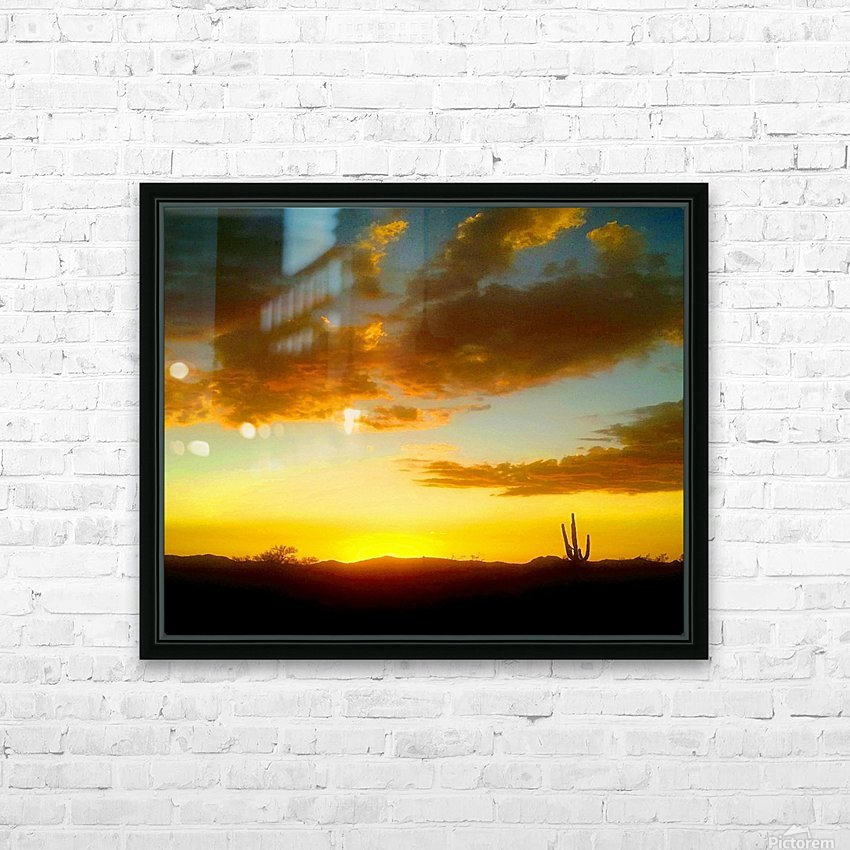 Desert Sunset HD Sublimation Metal print with Decorating Float Frame (BOX)
