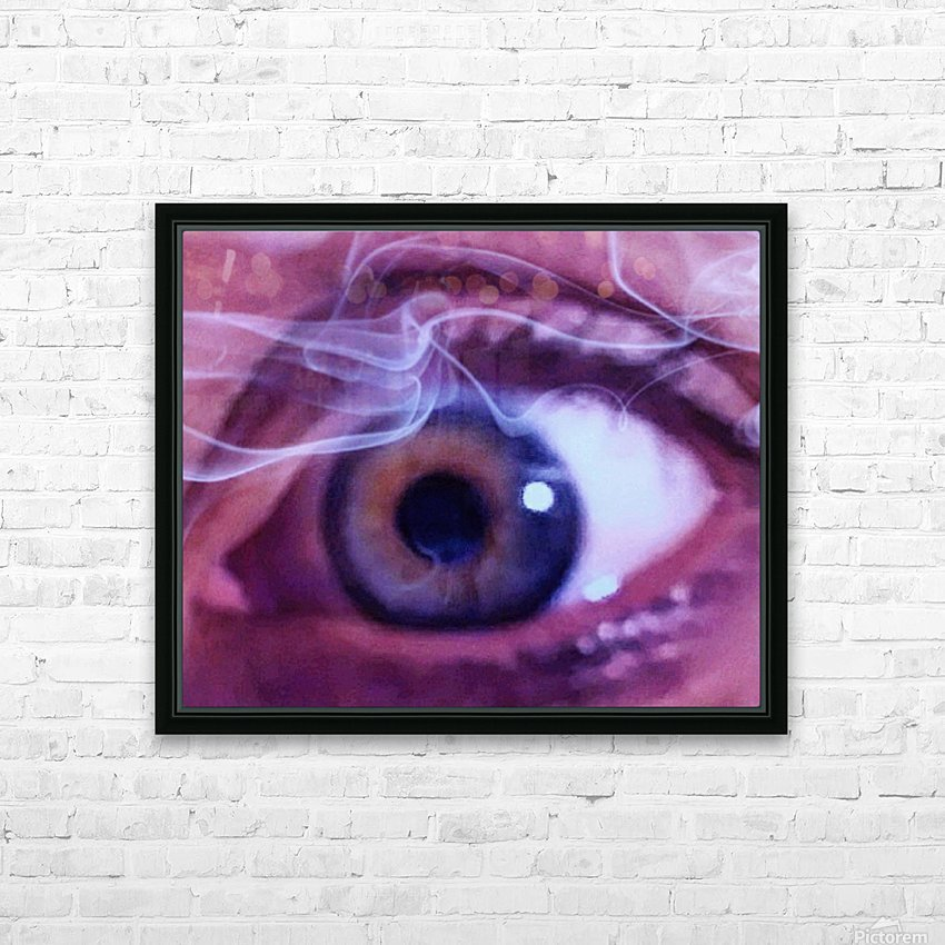 One eye HD Sublimation Metal print with Decorating Float Frame (BOX)