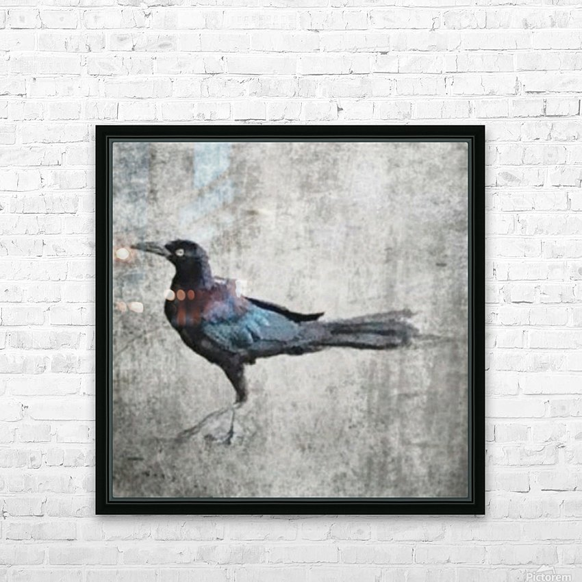 The Crow HD Sublimation Metal print with Decorating Float Frame (BOX)