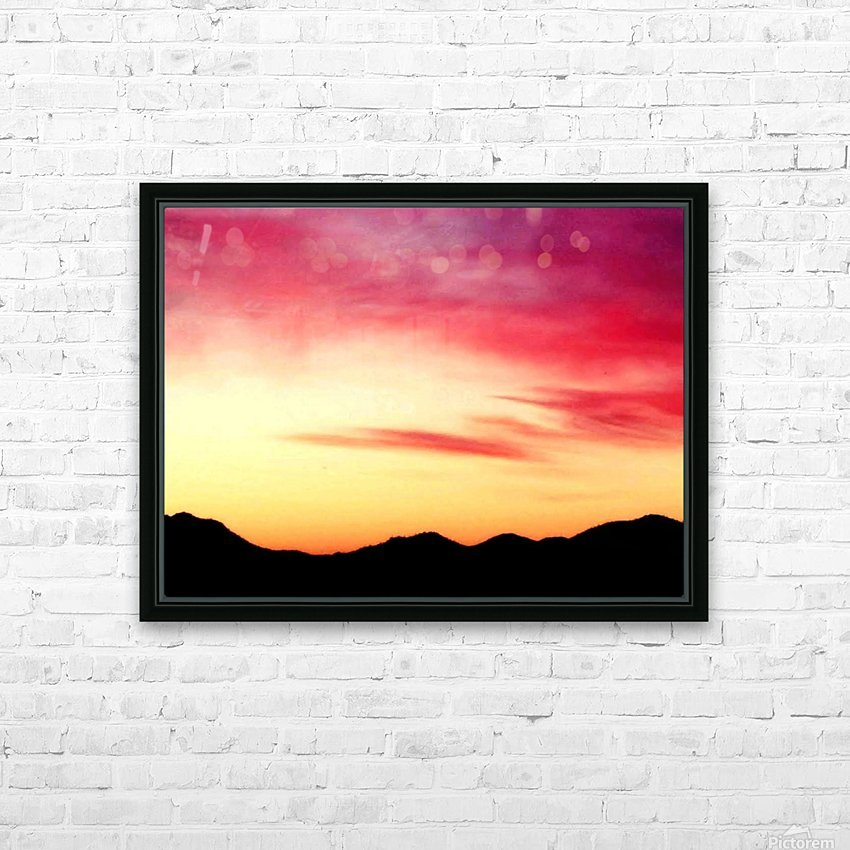 Colorful Dusk Mountain view HD Sublimation Metal print with Decorating Float Frame (BOX)