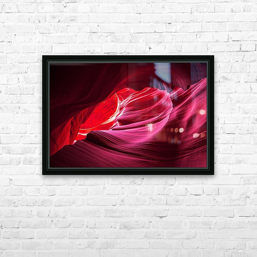 Purple Wave HD Sublimation Metal print with Decorating Float Frame (BOX)