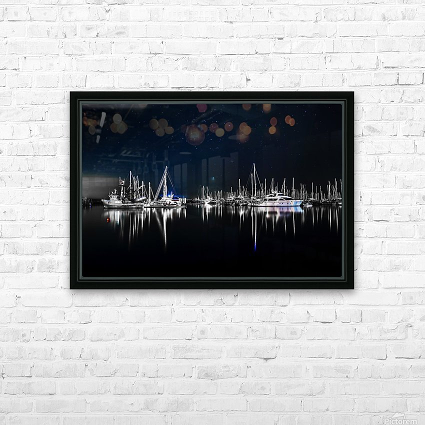 Midnight Stillness HD Sublimation Metal print with Decorating Float Frame (BOX)