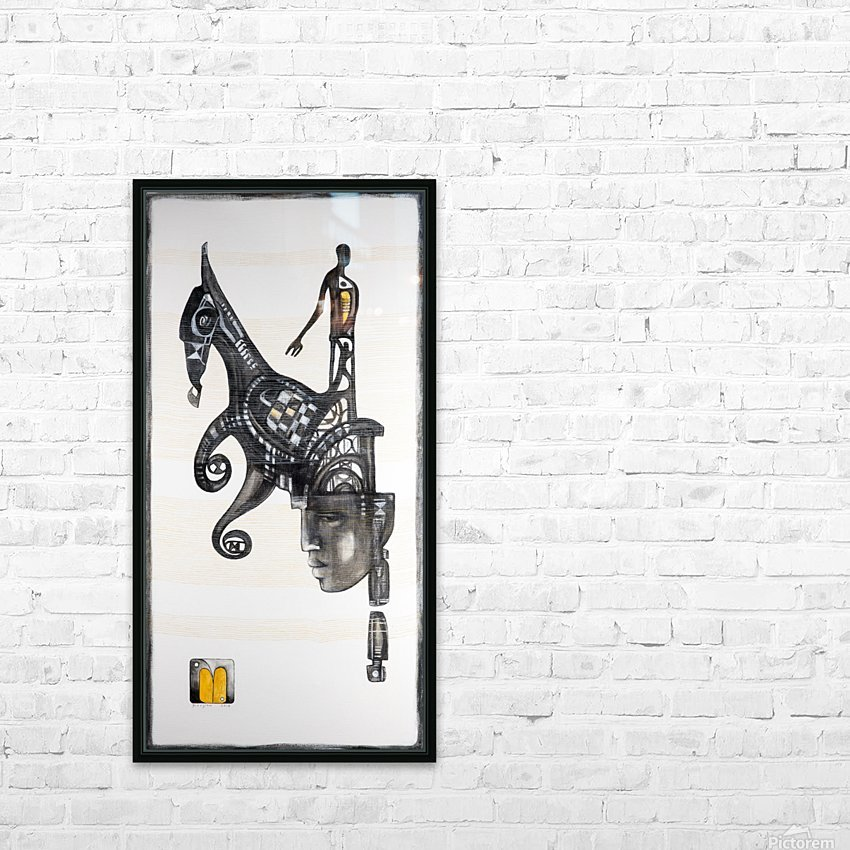 Mostly black white 5 HD Sublimation Metal print with Decorating Float Frame (BOX)