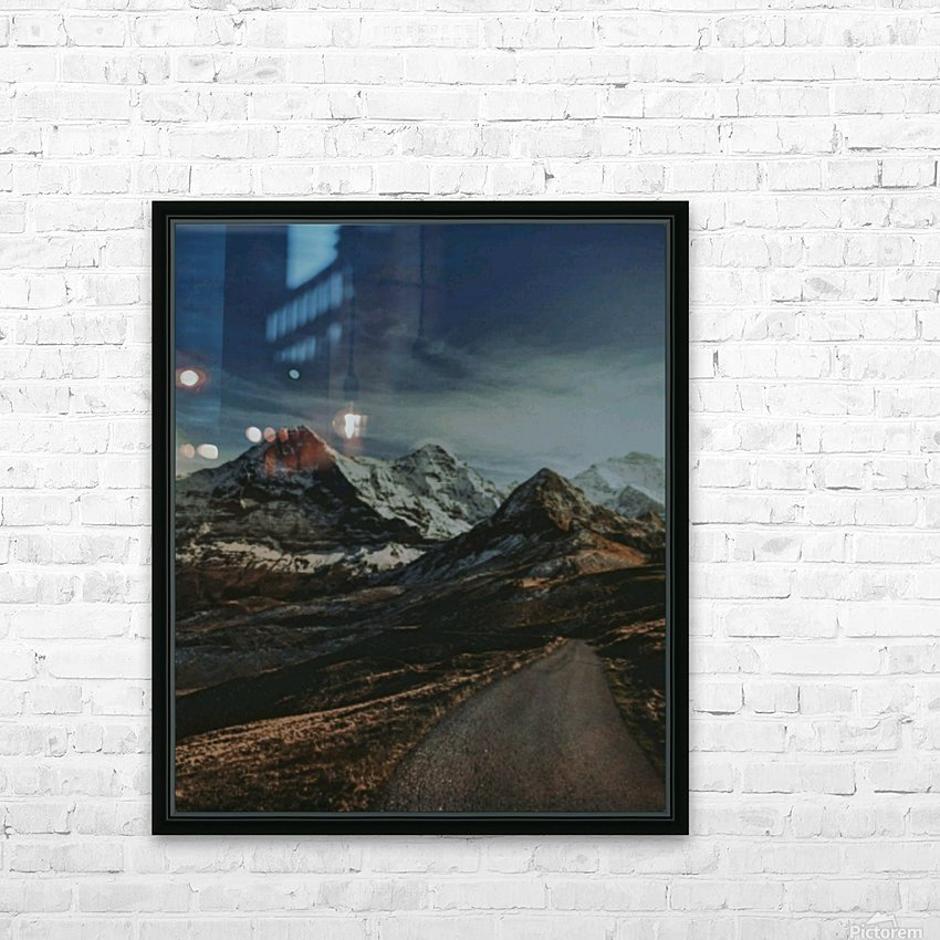 The Long Road Traveled HD Sublimation Metal print with Decorating Float Frame (BOX)