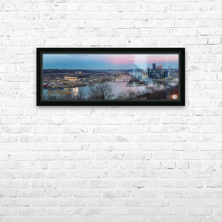 Pittsburgh HD Sublimation Metal print with Decorating Float Frame (BOX)