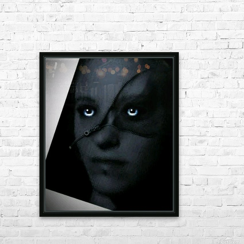 Creative dark Portrait Painting HD Sublimation Metal print with Decorating Float Frame (BOX)