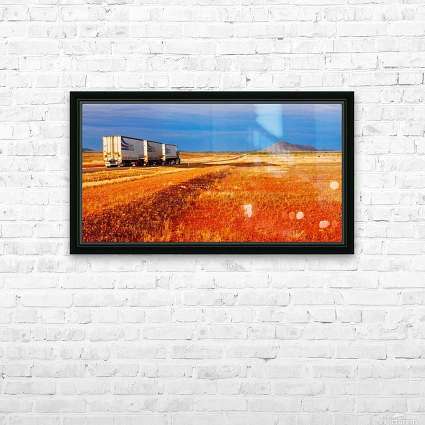 Road Train to Somewhere HD Sublimation Metal print with Decorating Float Frame (BOX)