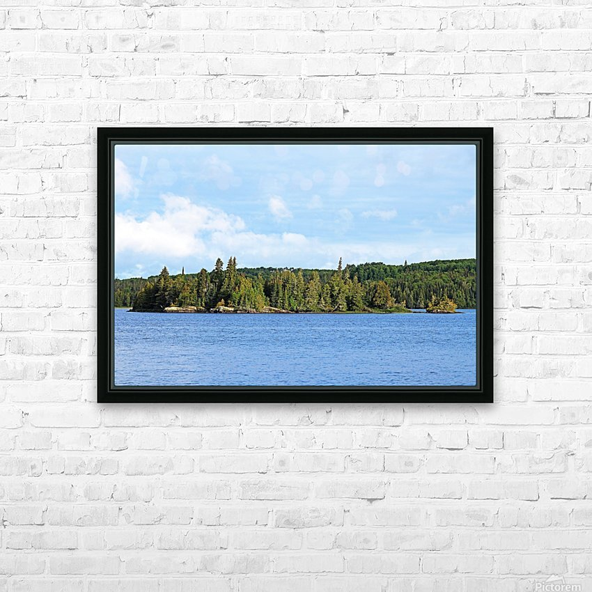 Bonar Lake Islands II HD Sublimation Metal print with Decorating Float Frame (BOX)