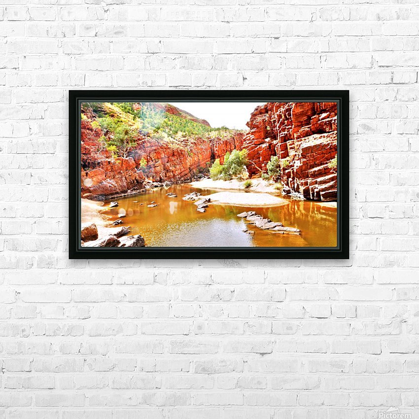 Waterhole - Ormiston Gorge HD Sublimation Metal print with Decorating Float Frame (BOX)