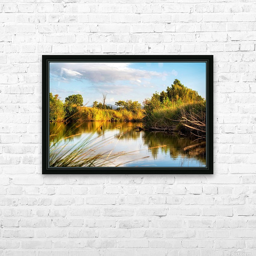 Serene River HD Sublimation Metal print with Decorating Float Frame (BOX)