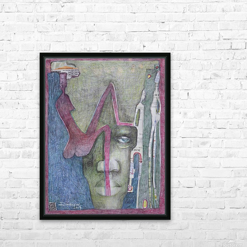 le masque 3 HD Sublimation Metal print with Decorating Float Frame (BOX)