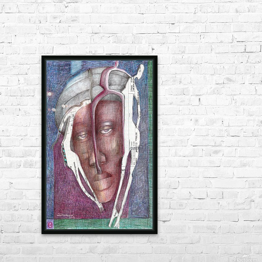homme au turban HD Sublimation Metal print with Decorating Float Frame (BOX)