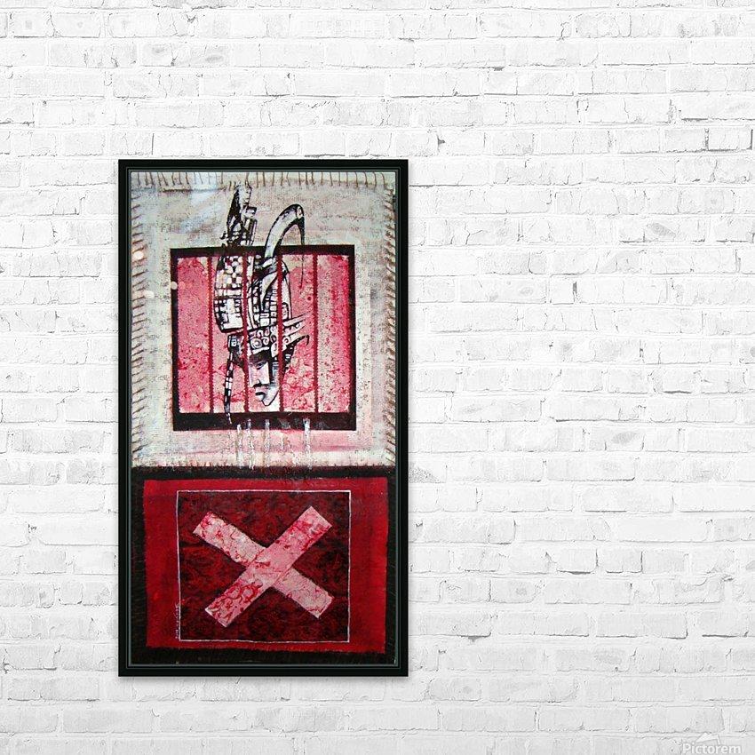 en_noir_et rouge HD Sublimation Metal print with Decorating Float Frame (BOX)