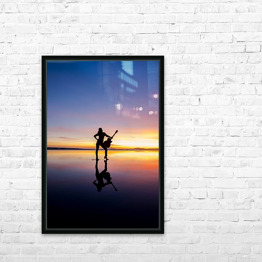 Rockstar HD Sublimation Metal print with Decorating Float Frame (BOX)