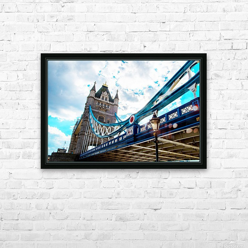 The Might of Tower Bridge HD Sublimation Metal print with Decorating Float Frame (BOX)