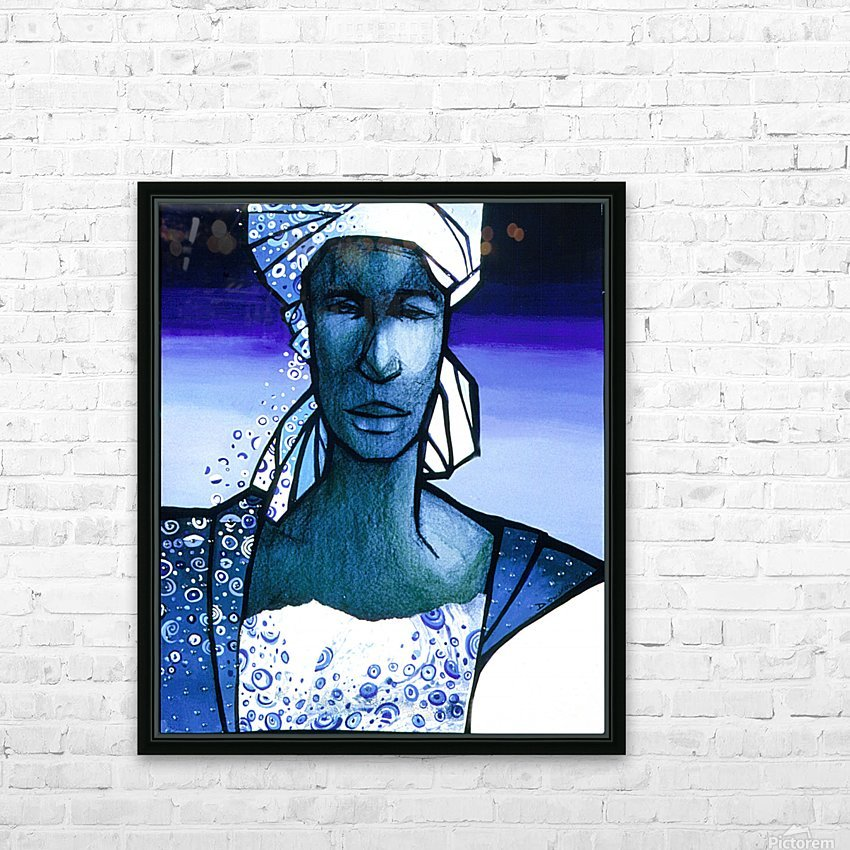 femme au turban bleu HD Sublimation Metal print with Decorating Float Frame (BOX)