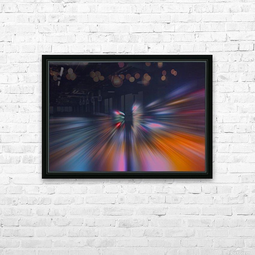 Radial_orangeblue HD Sublimation Metal print with Decorating Float Frame (BOX)