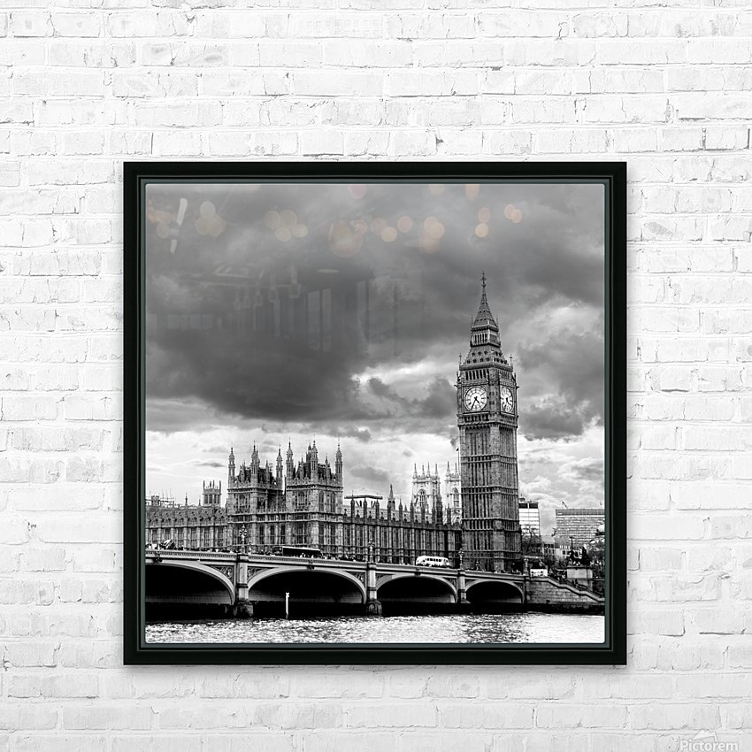 London Frozen in Time HD Sublimation Metal print with Decorating Float Frame (BOX)
