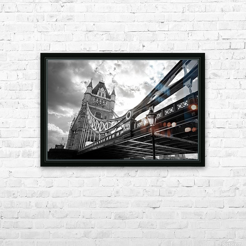 The Might of Tower Bridge Black and White HD Sublimation Metal print with Decorating Float Frame (BOX)