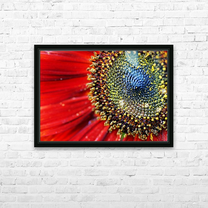 Spiral Center Of Sunflower HD Sublimation Metal print with Decorating Float Frame (BOX)