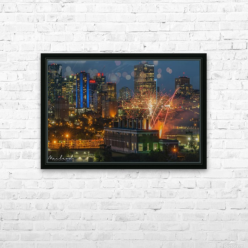 YEG_Fireworks_DSC_9297 HD Sublimation Metal print with Decorating Float Frame (BOX)