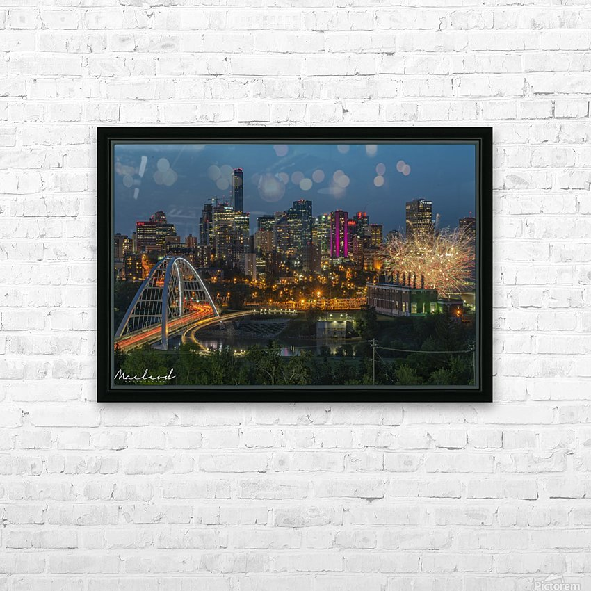 Yeg_Summer_Fireworks_DSC_9295 HD Sublimation Metal print with Decorating Float Frame (BOX)